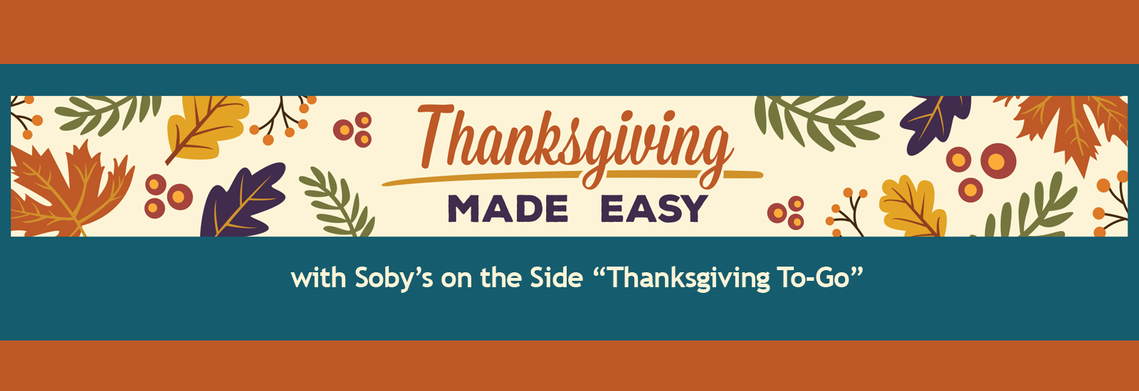 Soby's on the Side Thanksgiving